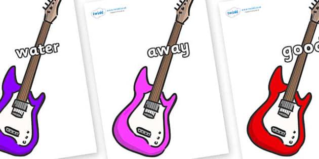 Next 200 Common Words on Guitars - Next 200 Common Words on  - DfES Letters and Sounds, Letters and Sounds, Letters and sounds words, Common words, 200 common words