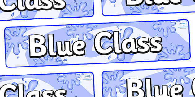 Blue Themed Classroom Display Banner - Themed banner, banner, display banner, Classroom labels, Area labels, Poster, Display, Areas