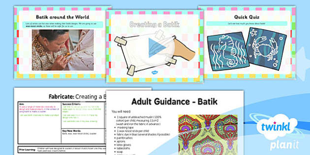 PlanIt - Art KS1 - Fabricate Lesson 5: Creating a Batik Lesson Pack - planit
