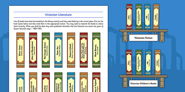 The Victorians Library of Literature - Victorian, Fiction, Non-Fiction, sorting, stories, bookcase, library, research, compare, contrast