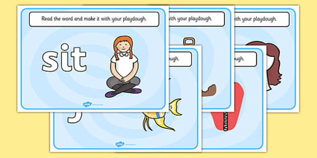 CVC Word Playdough Mats (i) - CVC, CVC word, playdough mat, playdough, three phoneme words, three sound words, consonant vowel consonant, words, three letter words, letters and sounds, DfES letters and sounds