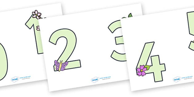 0-9 Display Numbers (Easter) - Display numbers, 0-9, numbers, display numerals, Easter, display lettering, display numbers, display, cut out lettering, lettering for display, display numbers