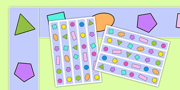 2D Shape Display Borders - Shape, shapes, display border, classroom border, border, display,  2D Shapes, Shape display, Shape , circle, square, traingle