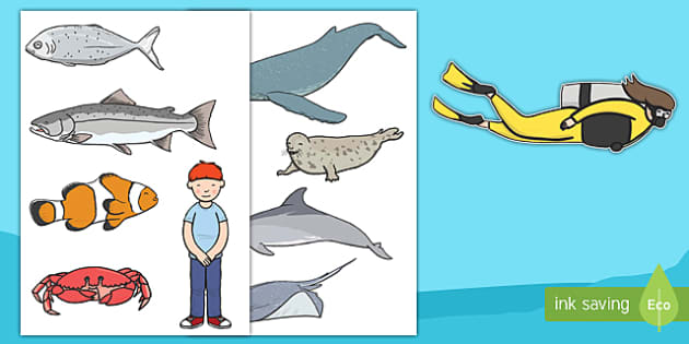 Sea Bucket Stick Puppets - billy's bucket, sea bucket, stick puppets, stick, puppets, role play, activity, game, story