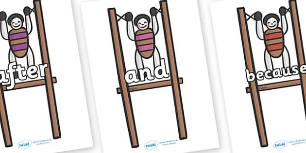 Connectives on Toys - Connectives, VCOP, connective resources, connectives display words, connective displays