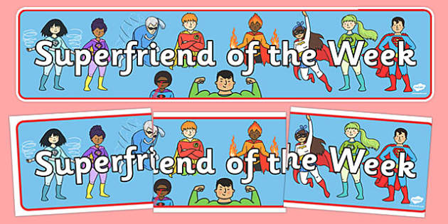 Superfriend of the Week Display Banner - superfriend of the week, display banner, display, banner