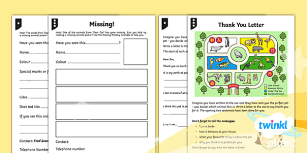 PlanIt Y1 Animals: to Support Teaching on Dear Zoo Home Learning Tasks - Dear Zoo, animals, stories, repeating parts, story writing, non-chronological report, poetry, homework, home learning
