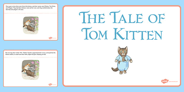 Beatrix Potter - The Tale of Tom Kitten PowerPoint - beatrix potter, tom kitten