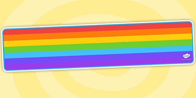 Editable Banner Rainbow - editable, editable banner, rainbow, display, banner, display banner, display header, themed banner, editable header, header