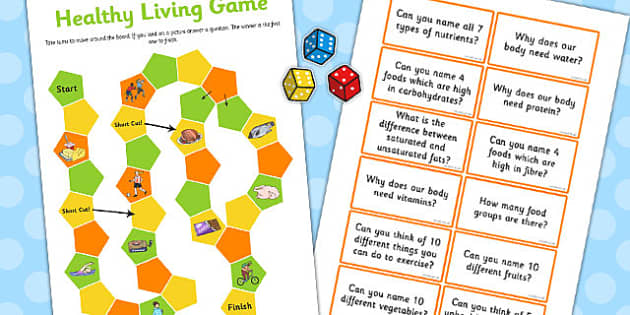Healthy Living Game KS2 - healthy living, game, ks2, healthy