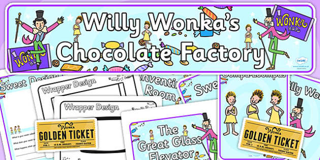 Role Play Pack to Support Teaching on Willy Wonka's Chocolate Factory - resource pack, zip file, role play, willy wonka, chocolate factory role play, role play resource pack