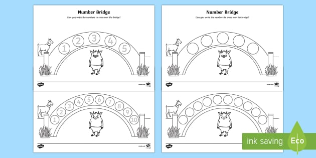 Number Bridge Activity Sheets