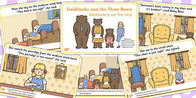 Goldilocks and the Three Bears Story EAL Romanian Translation