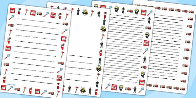 Fire Service Page Borders - fire service, page borders, border
