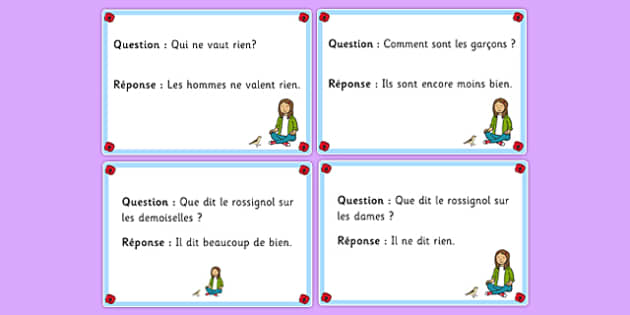 Quiz Cards Gentil Coquelicot French - french, language, quiz cards, gentil coqulicot