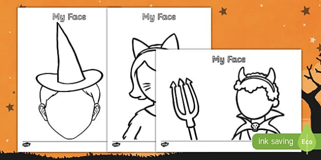 Halloween Themed Blank Face Templates Activity