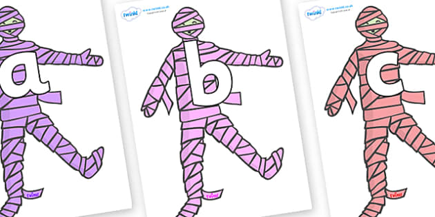 Phoneme Set on Mummies (Multicolour) - Phoneme set, phonemes, phoneme, Letters and Sounds, DfES, display, Phase 1, Phase 2, Phase 3, Phase 5, Foundation, Literacy