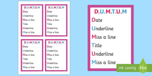 DUMTUM Book Prompt - Requests KS2 English, books, prompt, DUMTUM, stick