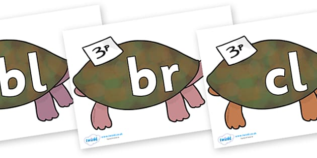 Initial Letter Blends on Turtle to Support Teaching on The Great Pet Sale - Initial Letters, initial letter, letter blend, letter blends, consonant, consonants, digraph, trigraph, literacy, alphabet, letters, foundation stage literacy