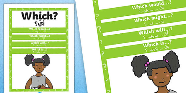 Which Question Poster Arabic Translation -posters, displays, display, questions, eal, mfl,