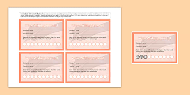 Incentive Stamp Cards Writing Pencil - incentive stamp, cards, incentive, writing, pencil