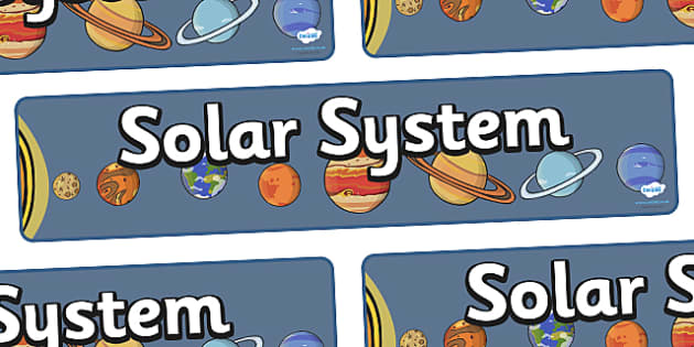 Solar System Display Banner - KS1, display banner, space, ship, space banner, rocket, alien, launch, foundation stage, topic, moon, stars, planet, planets