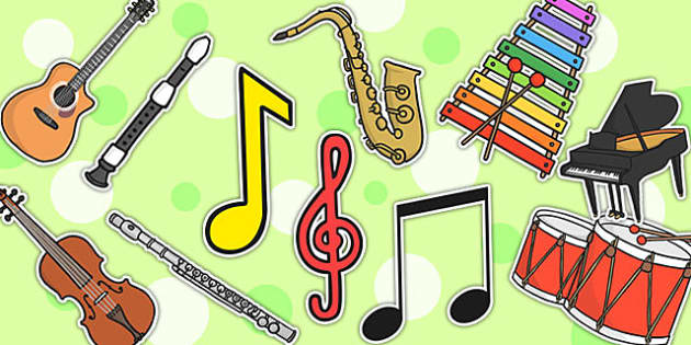 Music Display Cut-Outs - music display, cutouts, cutting skills