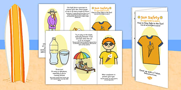 Sun Safety Leaflet Romanian Translation - bilingual, sun, beach, language, speech