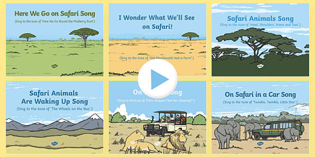 Safari Themed Songs and Rhymes PowerPoints Pack