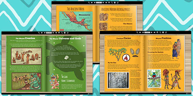 The Ancient Maya E Book - mayans, ancient mayans, history, KS2