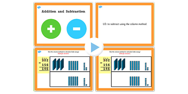 Y3 Add Subtract 4e 3 Digit Numbers Exchanging More Than Once
