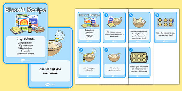 Biscuit Recipe Cards - biscuit, baking, recipe, recipe card, how to make biscuits, cards, recipe information, biscuits, food, eating