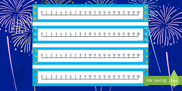 Bonfire Night Themed 0 20 Number Lines