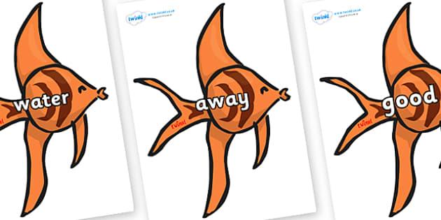 Next 200 Common Words on Angel Fish - Next 200 Common Words on  - DfES Letters and Sounds, Letters and Sounds, Letters and sounds words, Common words, 200 common words