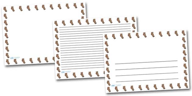 Ankle Landscape Page Borders- Landscape Page Borders - Page border, border, writing template, writing aid, writing frame, a4 border, template, templates, landscape