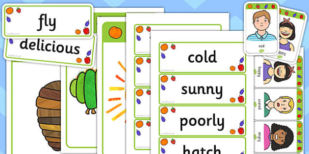 Mind Map Starter Resource Pack to Support Teaching on The Very Hungry Caterpillar - pack, mind