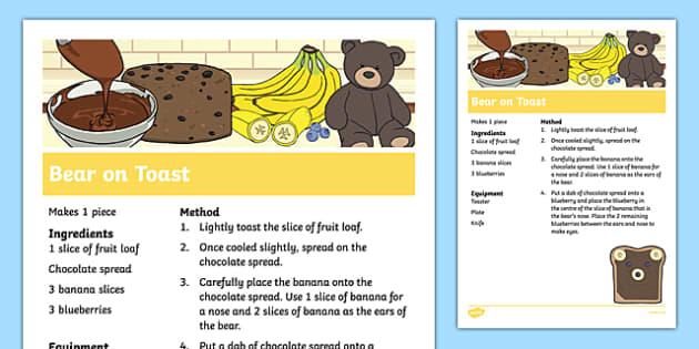 Bear on Toast Recipe