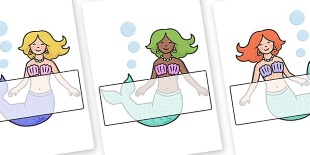 Mermaid A4 Display Posters Labels - display, posters, mermaid, under the sea, mermaid posters, mermaid labels, A4 posters, poster, classroom display posters