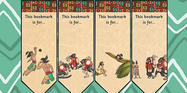 The Hero Twins Mayan Civilization Story Editable Bookmarks
