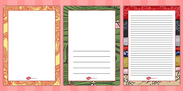 Let's Go to China Page Borders - china, page borders, borders