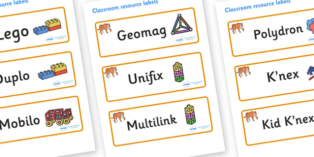 Tiger Themed Editable Construction Area Resource Labels - Themed Construction resource labels, Label template, Resource Label, Name Labels, Editable Labels, Drawer Labels, KS1 Labels, Foundation Labels, Foundation Stage Labels