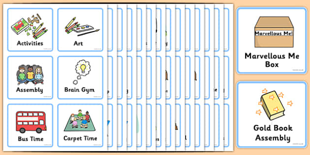 Visual Timetable Early Level - Visual Timetable, SEN, Daily Timetable, School Day, Daily Activities, Daily Routine, Foundation Stage