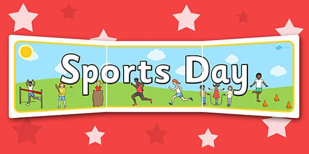 Sports Day Display Banner - sports, pe, sport, header, display