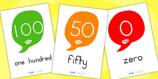 Number And Word Posters - number, words, maths, maths display