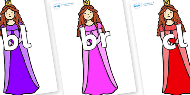 Initial Letter Blends on Sleeping Beauty - Initial Letters, initial letter, letter blend, letter blends, consonant, consonants, digraph, trigraph, literacy, alphabet, letters, foundation stage literacy
