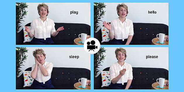 British Sign Language: Baby Sign Everyday Signs Video Clip - british sign language, baby sign, video clip, everyday signs