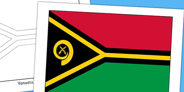 Vanuatu Flag Display Poster - countries, geography, display