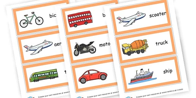 Transport Word Cards - Transport Group Signs Primary Resources,  Group Signs, Classroom