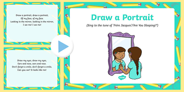 Draw a Portrait Song PowerPoint