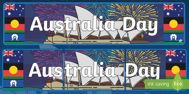 Australia Day Display Banner - australia, display banner, display